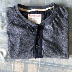 Hudson & Barrow Shirts - RARE Hudson & Barrow Henley Dark Heather Blue